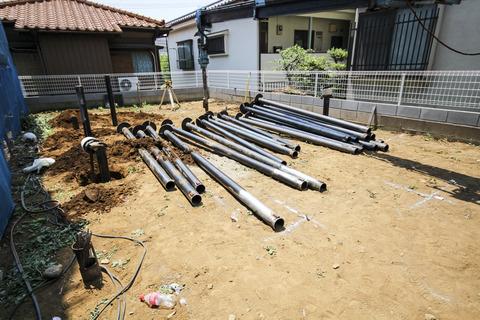 和光市Y様邸 20140531 施工状況「地盤改良」