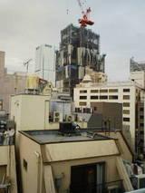 赤坂建設中のビル