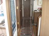 廊下の床暖房