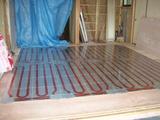 洋室床暖房パネル工事