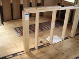洗面床暖房パネル工事