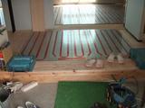 玄関ホール床暖房パネル