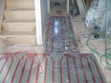 廊下へ続く床暖房パネル