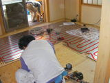 和室床暖房パネル工事
