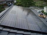 太陽光発電パネル工事完成