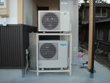 床暖房とエコキュート設置