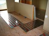 キッチン・洗面床暖房パネル工事