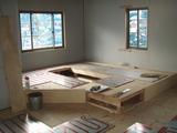 掘りコタツ 床暖房工事