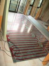 リビング床暖房工事