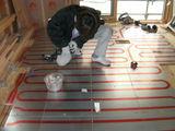 洋室床暖房工事