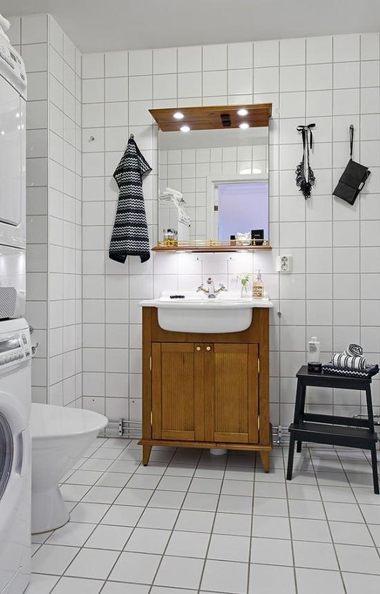 北欧インテリアのトイレ