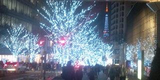 六本木と東京タワー。