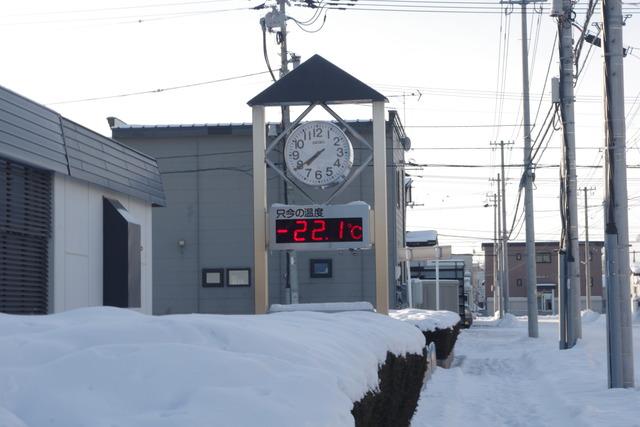 氷点下22度