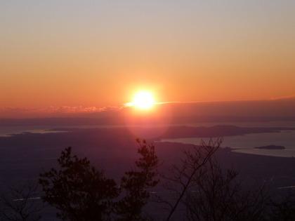 大山山頂初日の出