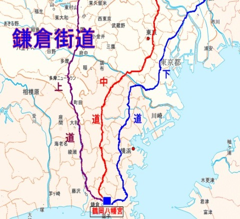 鎌倉街道ルート図