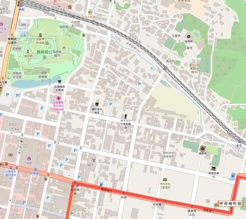 甲府市街地地図