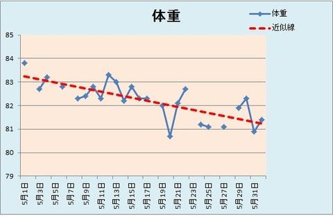 体重グラフ5.31