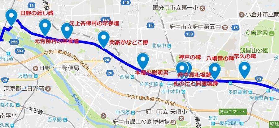 旧甲州街道をロードバイクで(府中宿~日野宿) : 旧街道をロード ...