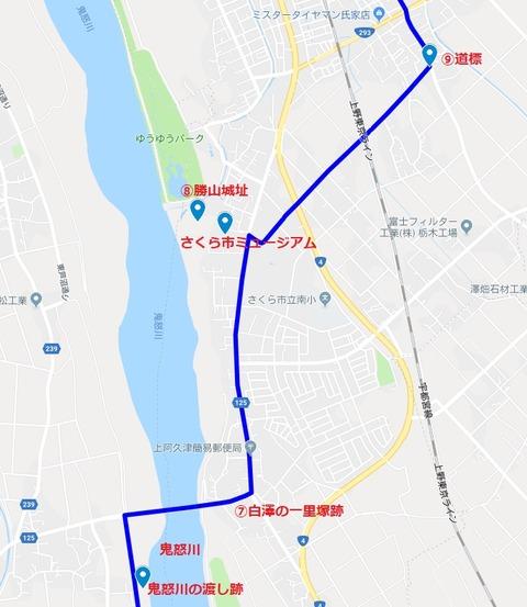 ⑨地図(宇都宮宿~白澤宿)⑦~