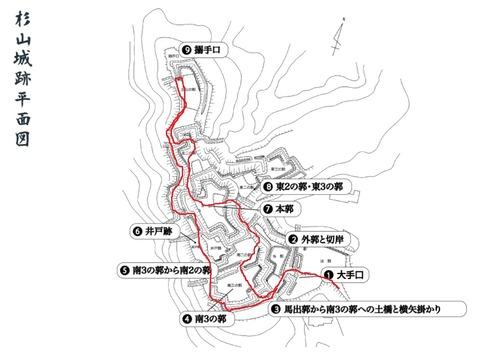 杉山城案内図