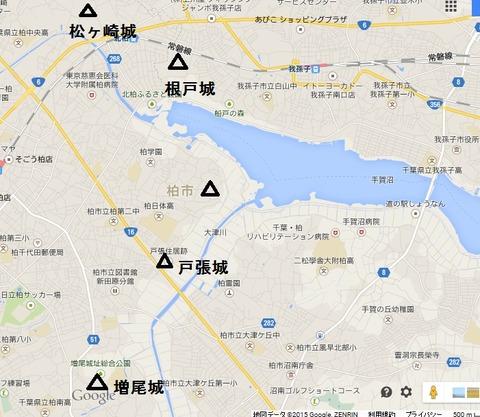 手賀沼城地図