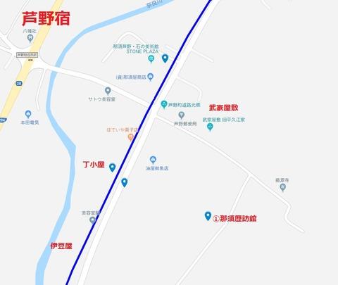 芦野宿地図