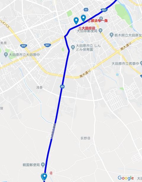 佐久山宿~大田原宿②