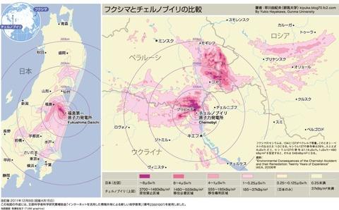 早川先生マップ【チェルノブイリとの比較】