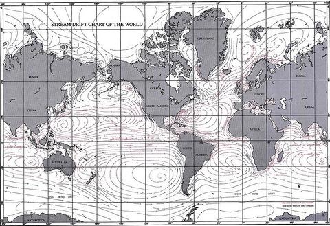 世界の海流地図
