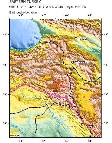 トルコ震源地
