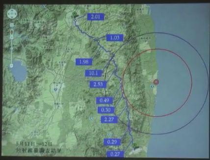 測定結果地図