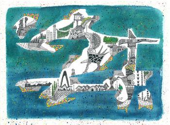 光嶋裕介_幻想都市風景_Urban Landscape Fantasia 2014-1