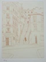 風間完パリ時代1-モンマルトルの階段