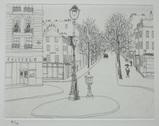 風間完パリ時代3巻-朝の広場