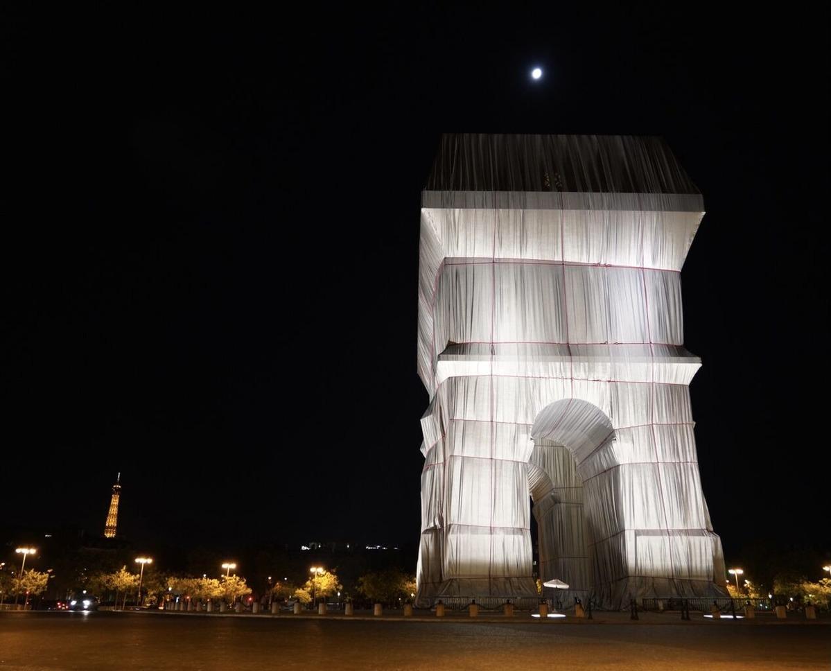 クリスト! ジャンヌ=クロード!「包まれた凱旋門、パリ、1961-2021」・・・観に来たよ!(その2)