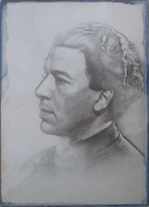 ジョセフコーネル_アンドレ・ブルトン肖像