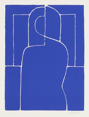 345_大沢昌助《大沢昌助版画集<青の立像>より、青の立像》