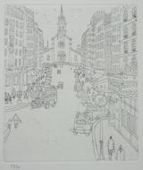 風間完パリ時代2巻-教会前の大通り