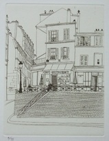 風間完パリ時代3巻-カフェ