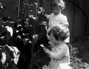 Twins Picking Foxglove Buds, 1919_jpg