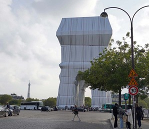 クリスト! ジャンヌ=クロード!「包まれた凱旋門、パリ、1961-2021」・・・観に来たよ!(その1)