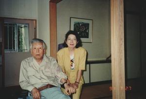 1991年7月27日軽井沢_久保貞次郎と令子