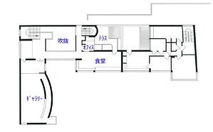 ラ・ロシュ=ジャンヌレ邸_2階平面図