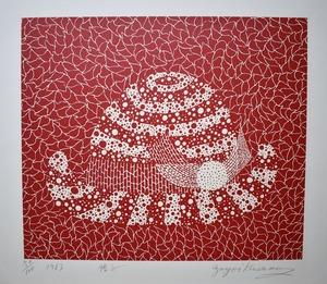 草間彌生帽子(赤)21
