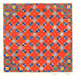 20160916_赤い十字のある円(水彩)_600