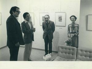 19780918ギャラリーミキモト 難波田展オープニング 松永健一