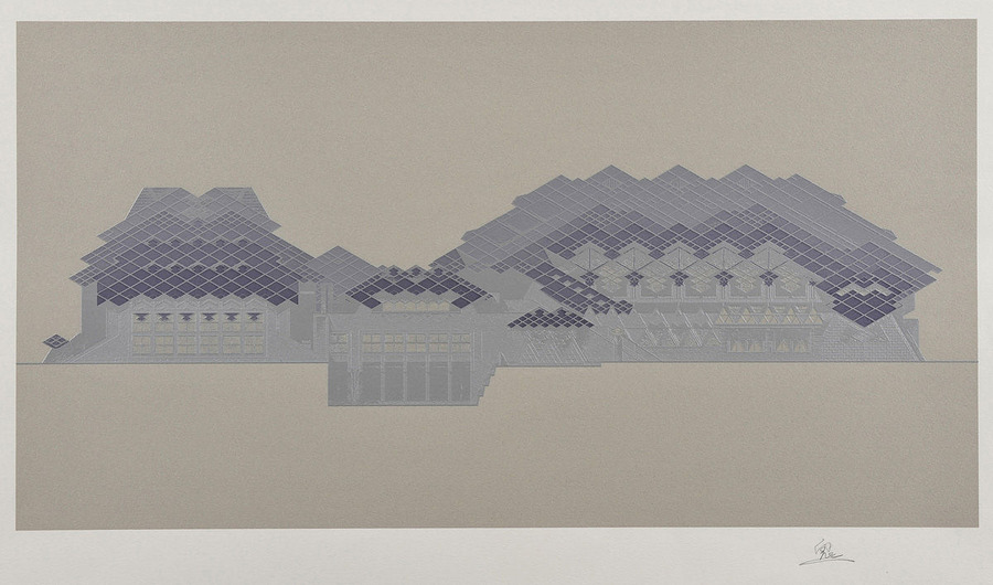 六角鬼丈の版画と建築