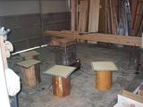 丸太の椅子を準備