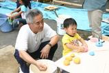 おじいちゃんと一緒に珪藻土団子