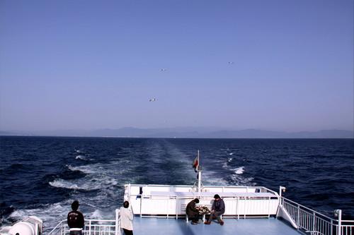 駿河湾フェリ〜の上